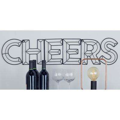 Indoor CHEERS Stencil-Style Outline Decorative Sign
