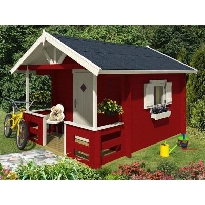 Allwood Kids Club Playhouse with Covered Front Porch