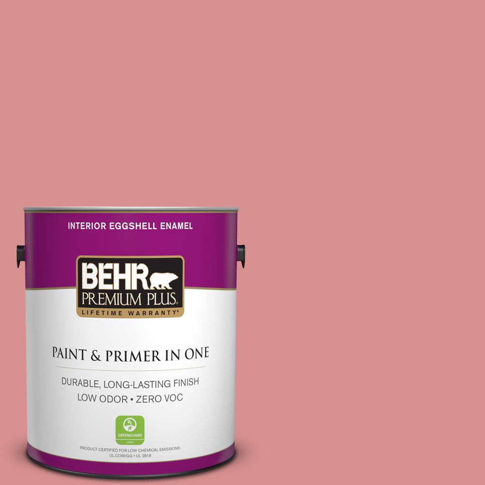 BEHR Premium Plus Home Decorators Collection 1-gal. #HDC-CT-11 La Vie En Rose Zero VOC Eggshell Enamel Interior Paint