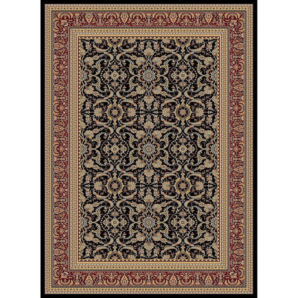 Concord Global Trading Williams Collection Izmir Black 7 ft. 10 in. x 10 ft. 10 in. Area Rug