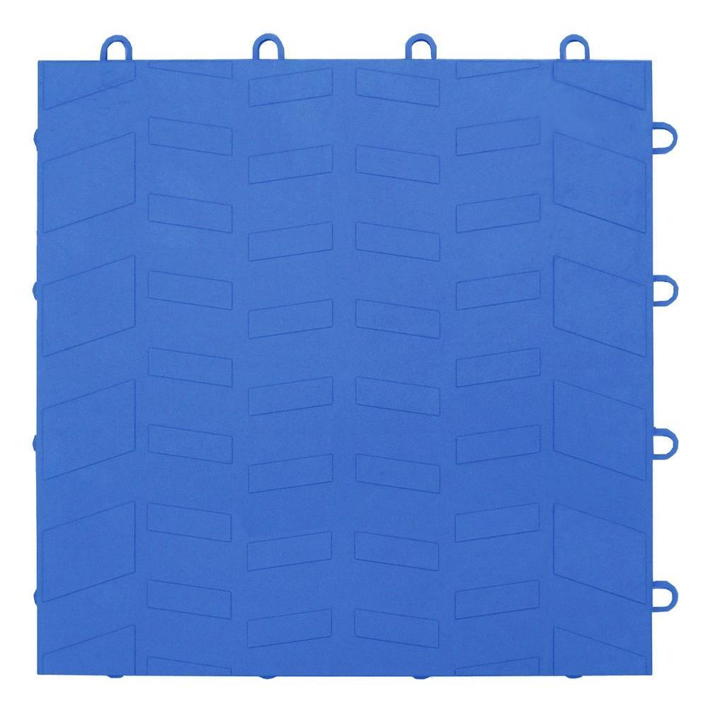 MotorMat Tread Bright-Blue 12 in. x 12 in. Garage Tile (40-Case)