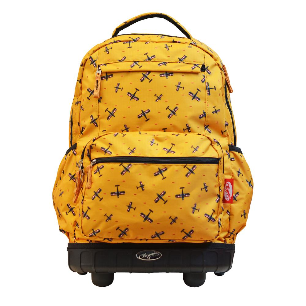 49dace8ae7 Olympia USA Melody 19 in. Yellow Rolling Backpack-RP-6001-PLYE - The ...