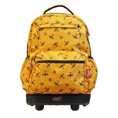 Melody 19 in. Yellow Rolling Backpack
