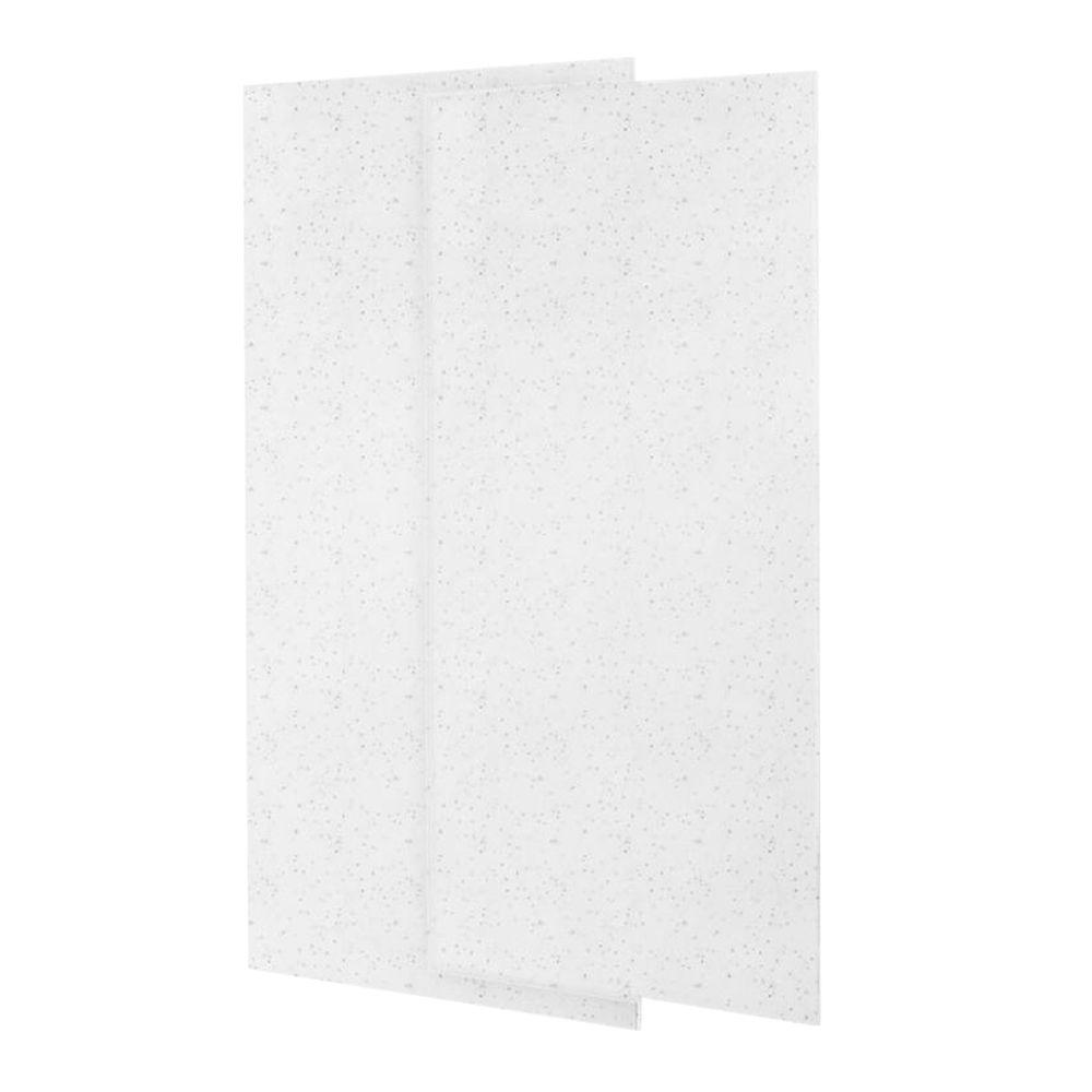 36 in. x 72 in. 2-piece Easy Up Adhesive Alcove Shower
