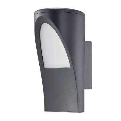 Propenda 1-Light Anthracite Integrated LED Outdoor Wall Mount Cylinder Light