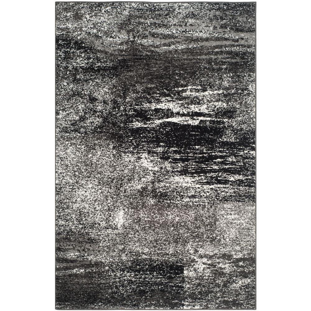 Safavieh Adirondack Silver Black 4 Ft X 6 Ft Area Rug
