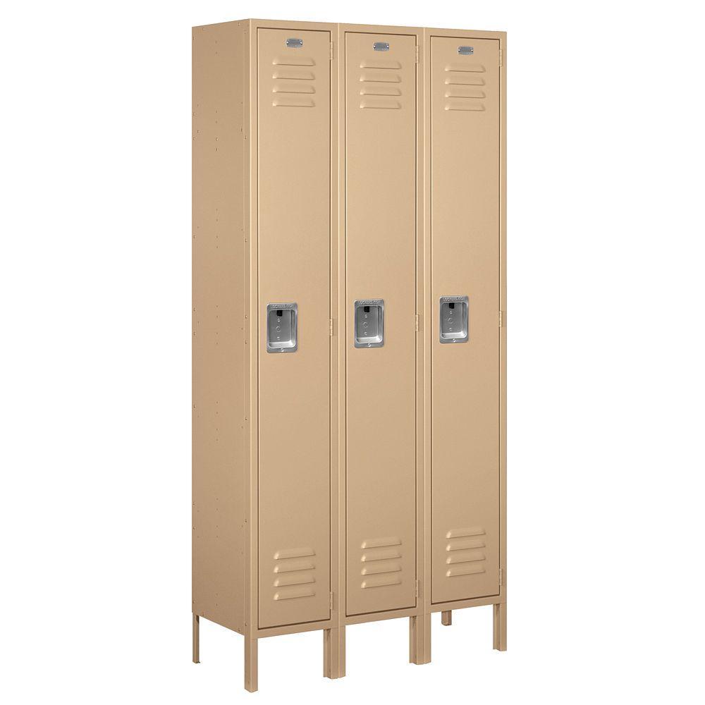 Salsbury Industries 61000 Series 36 in. W x 78 in. H x 12 in. D Single Tier Metal Locker Assembled in Tan