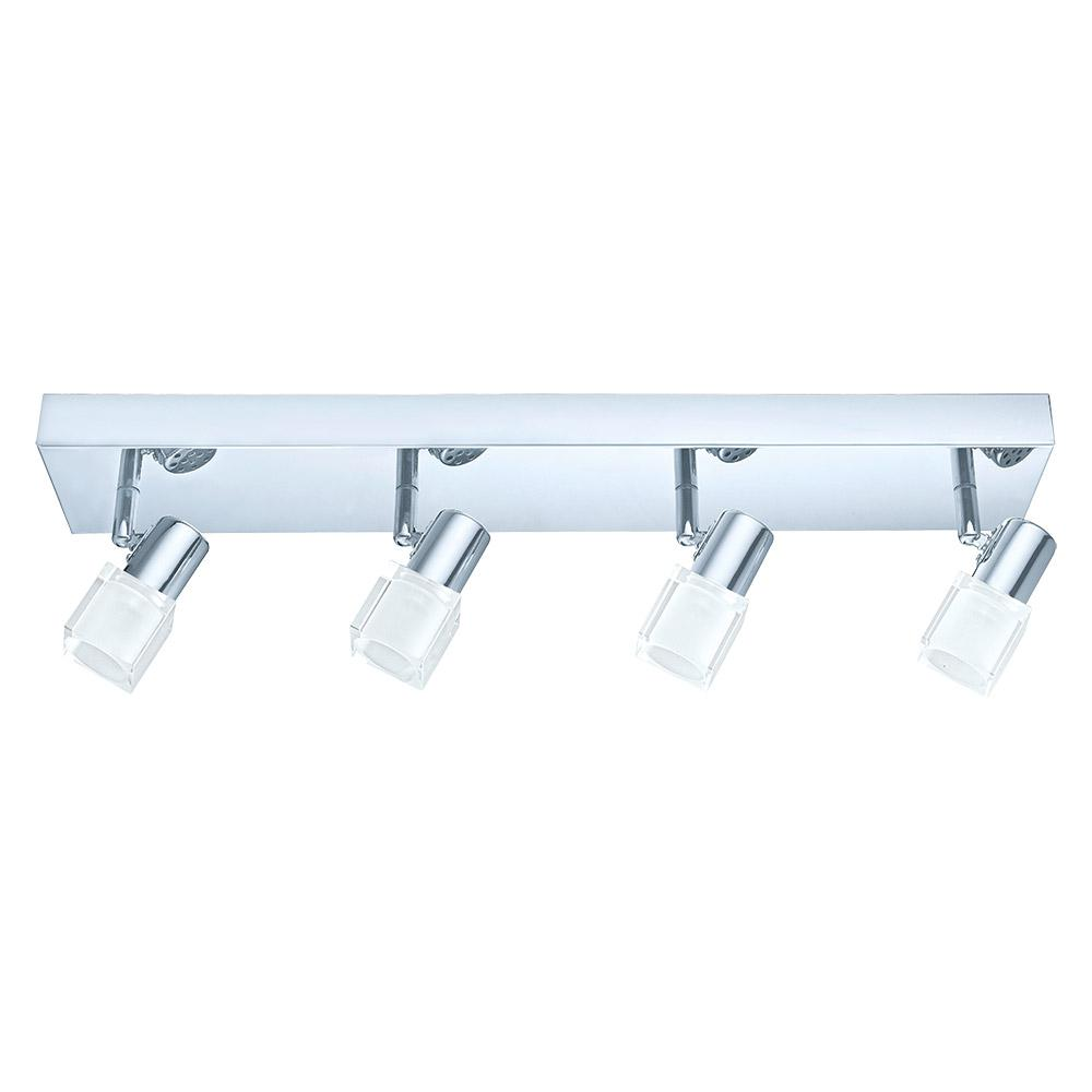 Chrome And Black Track Lighting: EGLO Nocera 1.97 Ft. Chrome Integrated LED Track Lighting
