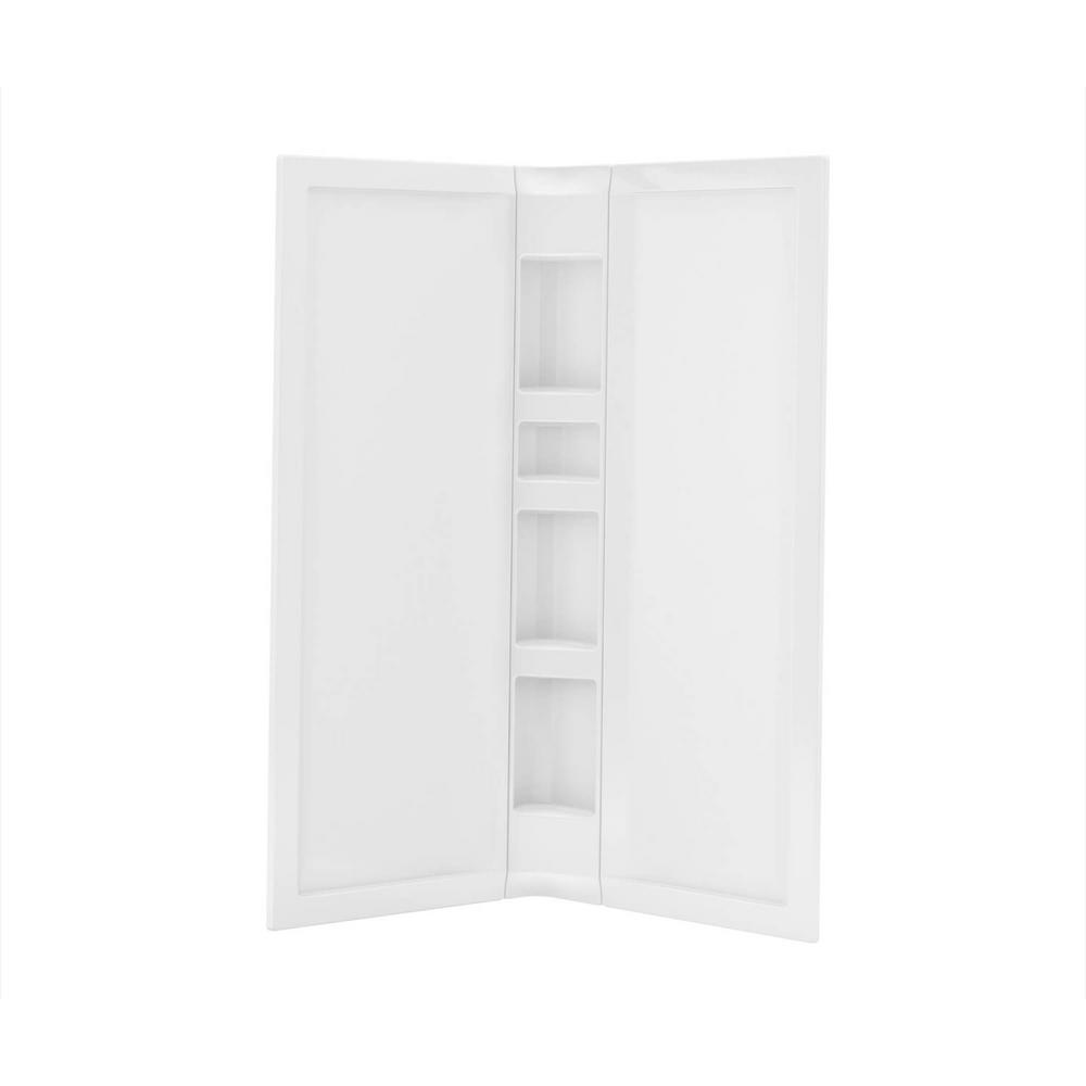 Acrylic 40 in. 40 in. x 76 in. 3-Piece Direct-to-Stud Corner