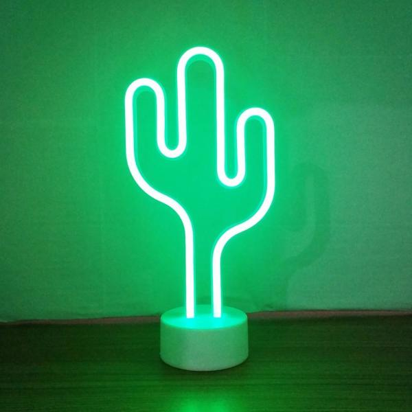 Unbranded Cactus Led Wall Art Neon Lighted Sign Desk Lamp 94210 The Home Depot