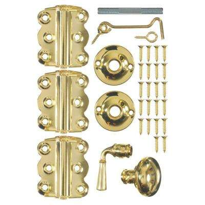 Vinyl Screen Door Kit in Brass Plated