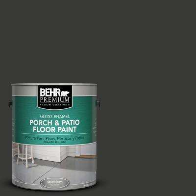 1 gal. #1350 Ultra Pure Black Gloss Interior/Exterior Porch and Patio Floor Paint