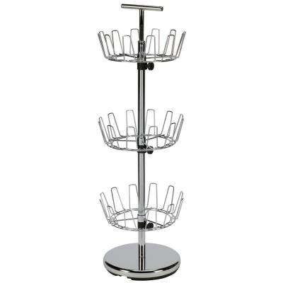 38 in. 3-Tier Shoe Tree in Chrome