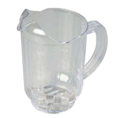 60 oz., 8.25 in. Tall Polycarbonate Pitcher with Flat Window for Imprinting in Clear (Case of 6)