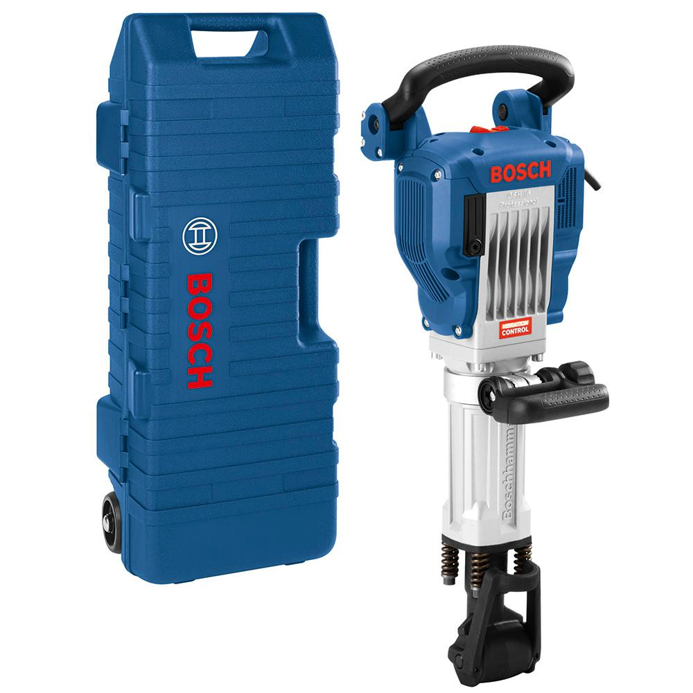 Bosch 15 Amp 1-1/8 in. Corded Concrete Electric Hex Breaker Hammer Kit with Hard Carrying Case with Wheels