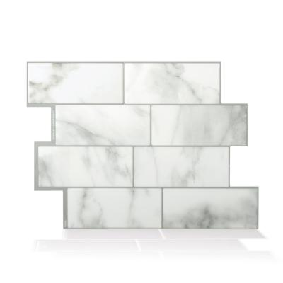 Metro Carrera 11.56 in. W x 8.38 in. H Gray Peel and Stick Self-Adhesive Decorative Mosaic Wall Tile Backsplash (4-Pack)