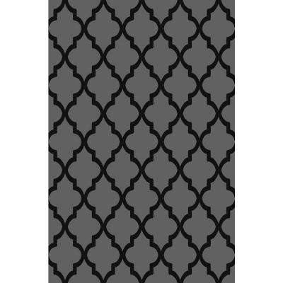 Ephes Collection Grey 4 ft. 10 in. x 6 ft. 10 in. Area Rug