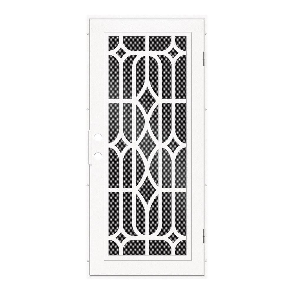 unique home designs security doors. 36  x 80 White Unique Home Designs Security Doors Exterior