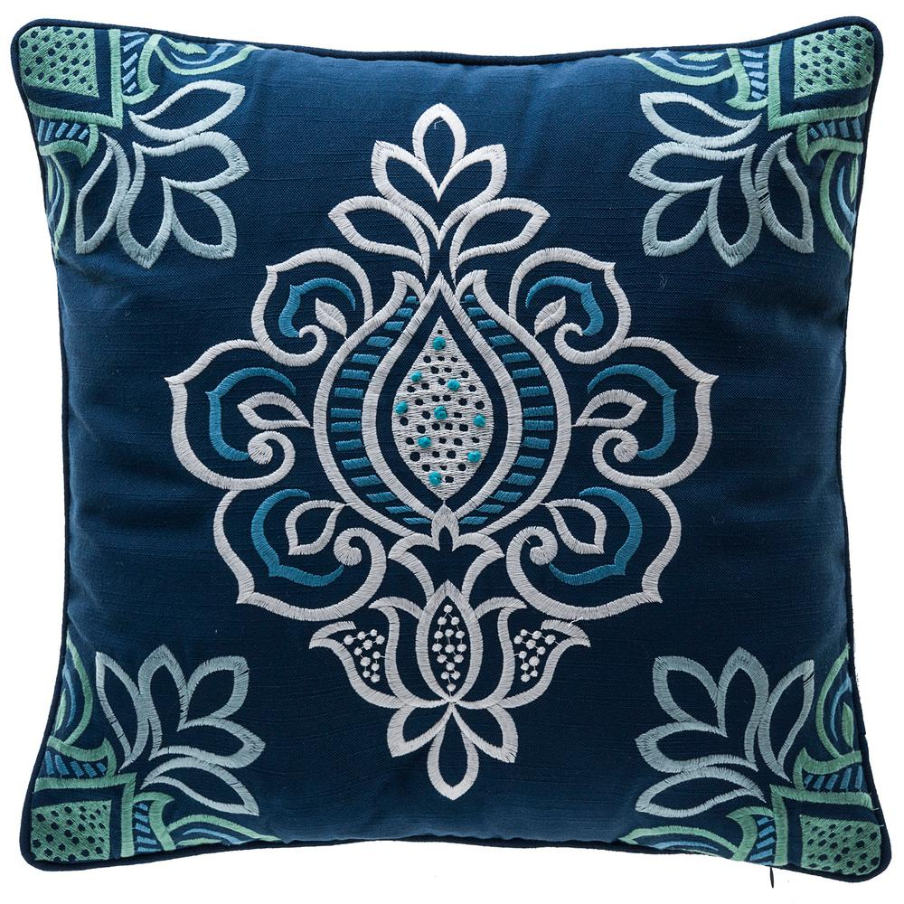Carmen Tulips Square Outdoor Throw Pillow