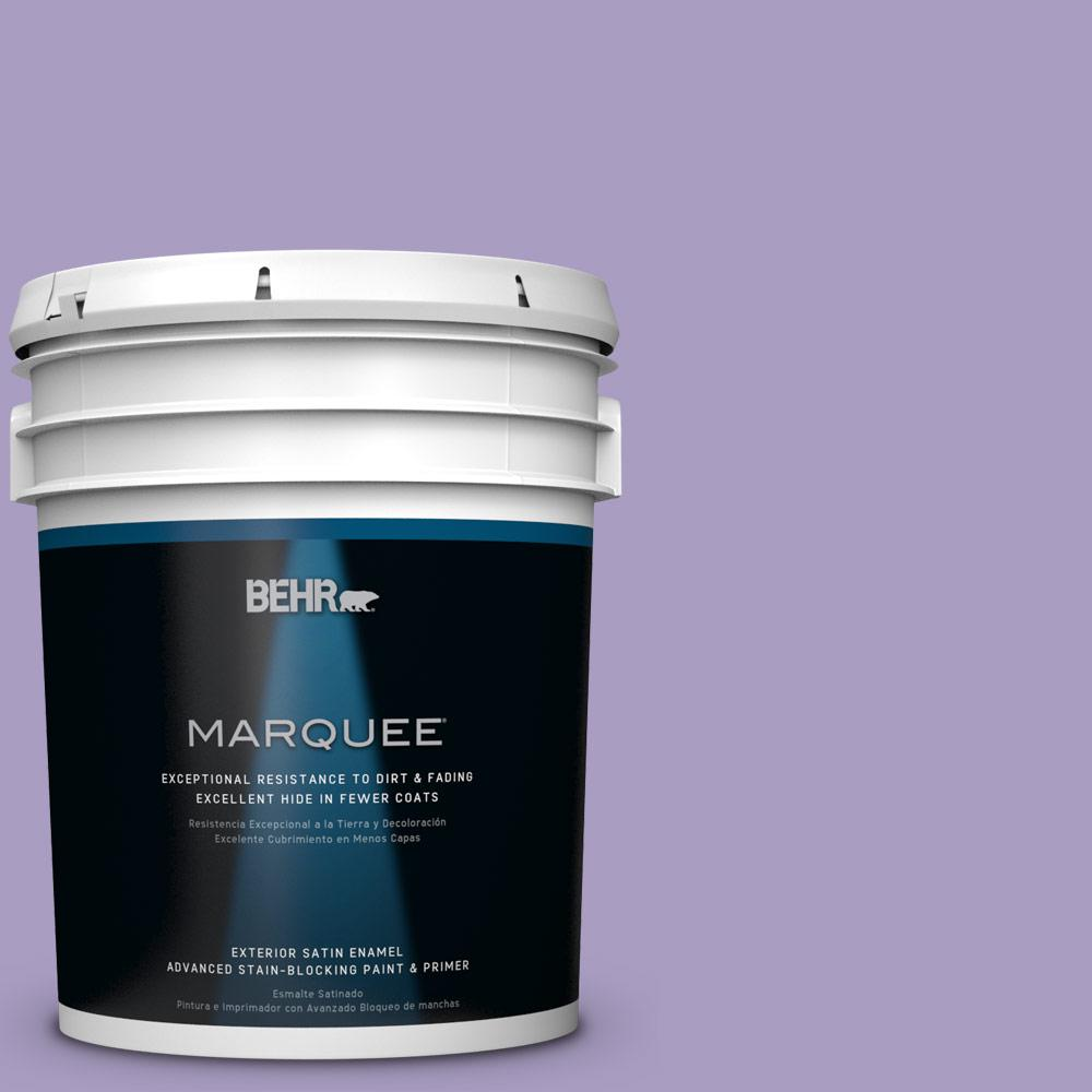 5-gal. #M560-4 Evening Slipper Satin Enamel Exterior Paint