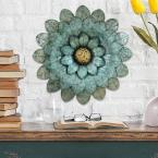Morning Glory Metal Flower Wall Decor