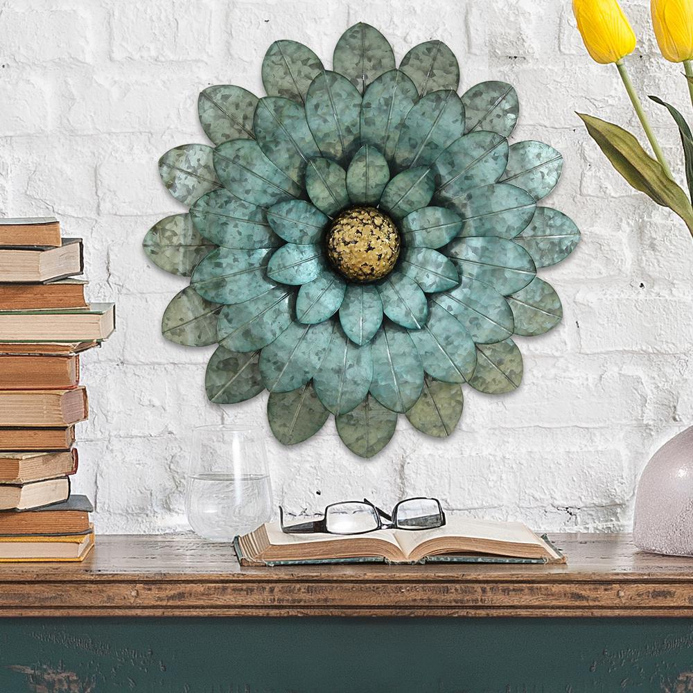 Morning Glory Metal Flower Wall Decor