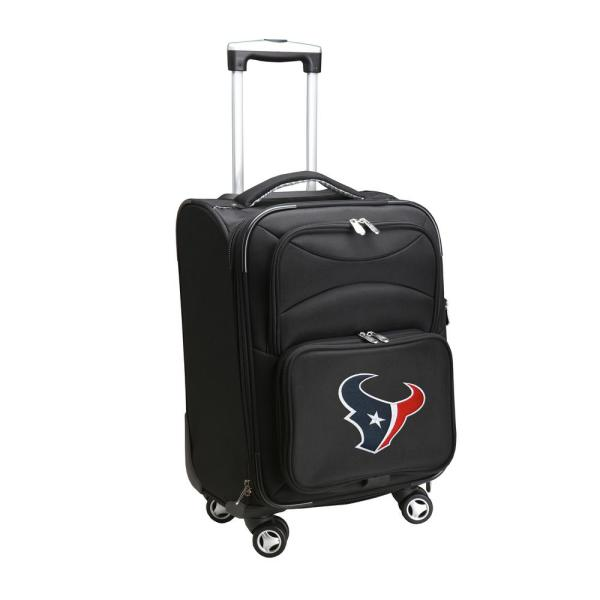 Denco NFL Houston Texans 21 in. Black Carry-On Spinner Softside Suitcase