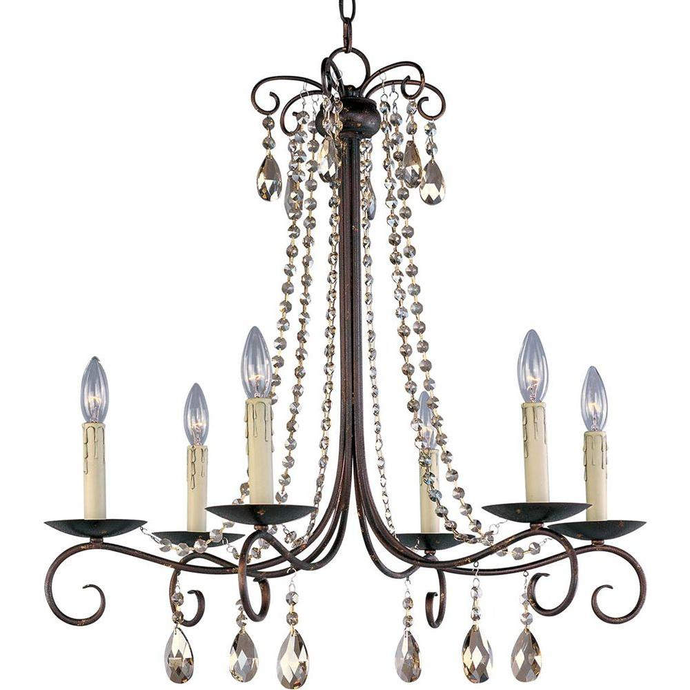 Maxim lighting adriana 6 light urban rustic chandelier 22196ur the maxim lighting adriana 6 light urban rustic chandelier aloadofball Image collections