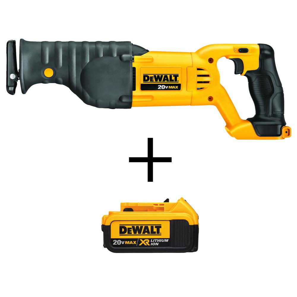 20-Volt MAX Lithium-Ion Cordless Reciprocating Saw (Tool-Only) with Free 20-Volt MAX XR Lithium-Ion Battery Pack 4.0Ah