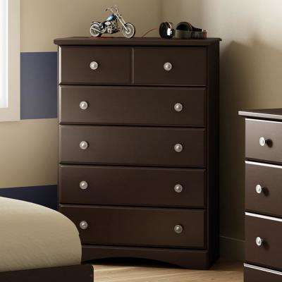 Morning Dew 5-Drawer Chocolate Chest