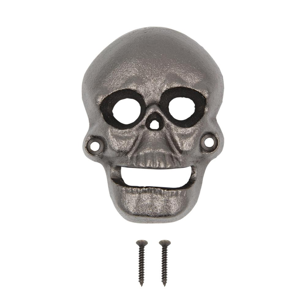 everbilt skull bottle opener 16666 the home depot. Black Bedroom Furniture Sets. Home Design Ideas