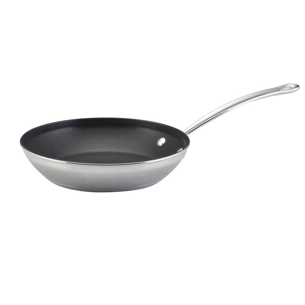 Farberware Millennium 10 in. Open Non-Stick Skillet in Stainless Steel