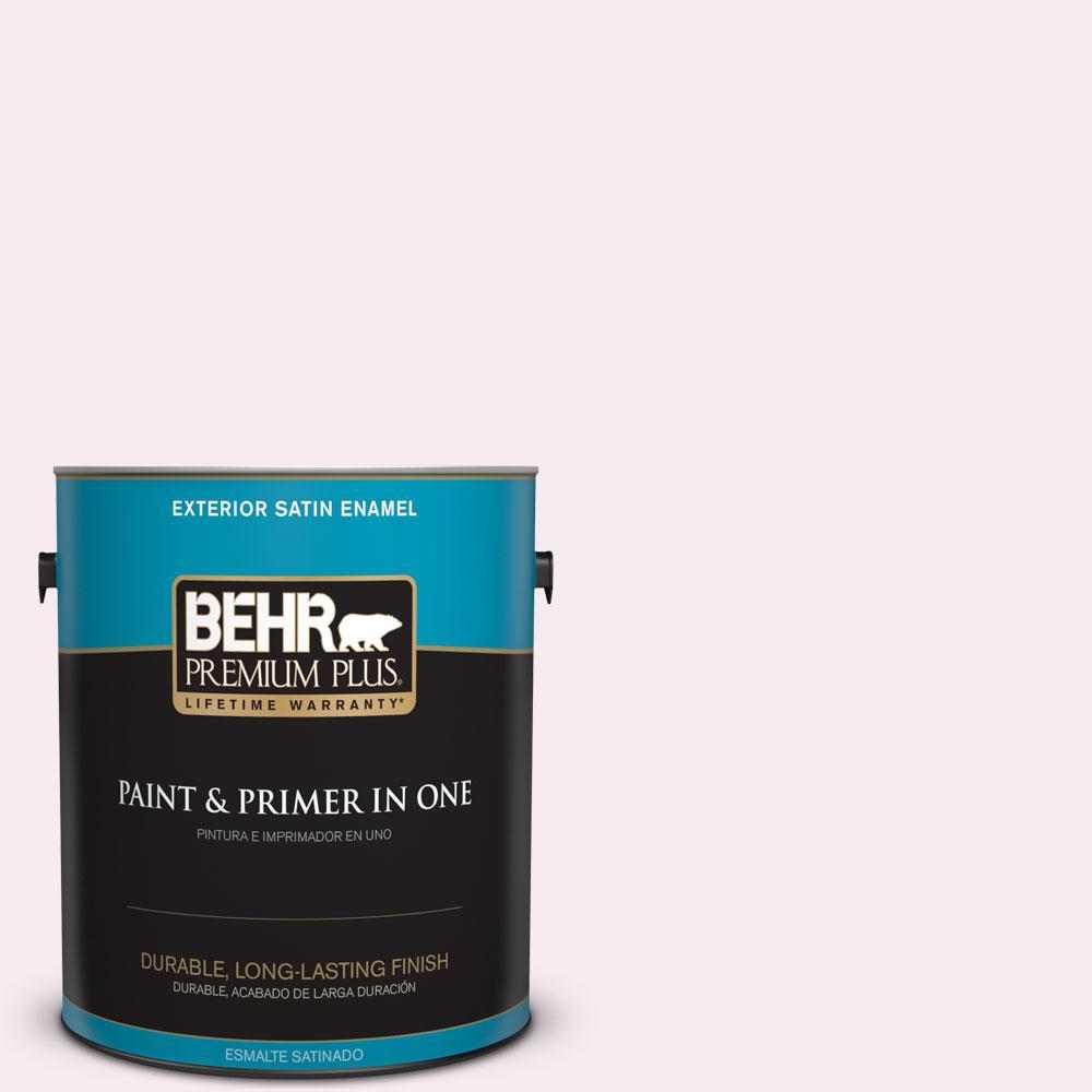 BEHR Premium Plus 1-gal. #690C-1 Sweet Illusion Satin Enamel Exterior Paint