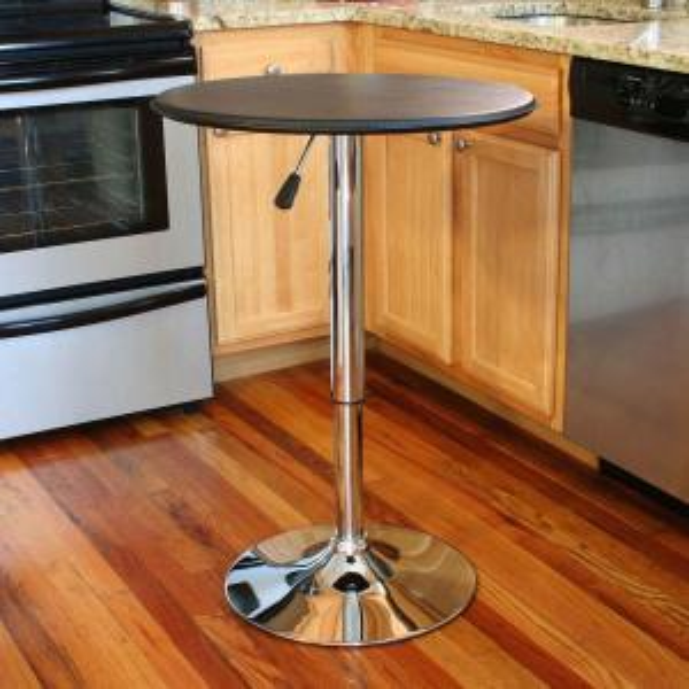 AmeriHome Chrome Adjustable Pub/Bar Table by AmeriHome