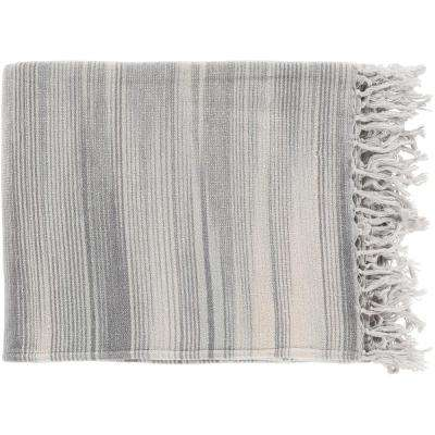 Simonov  Charcoal Cotton Throw