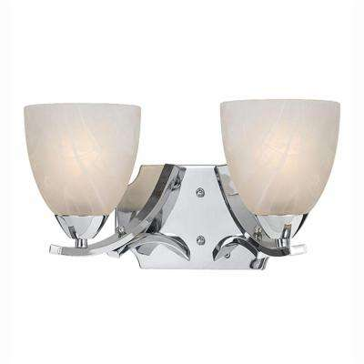 Berlin 2-Light Chrome Plated Bath Vanity Light