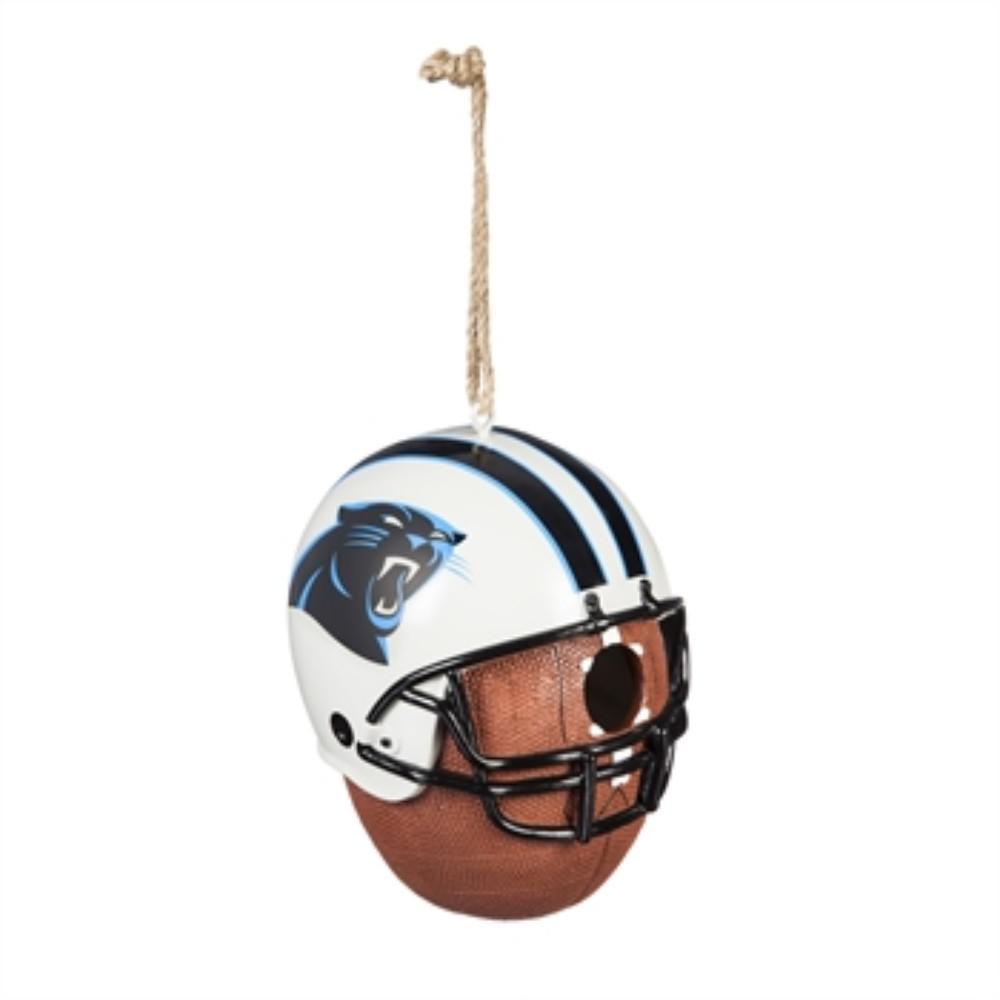 b0f8e6bdfad Team Sports America. Carolina Panthers 6.5 in. x 7.5 in. x 8 in. Polystone  Hat Helmet Ball Birdhouse