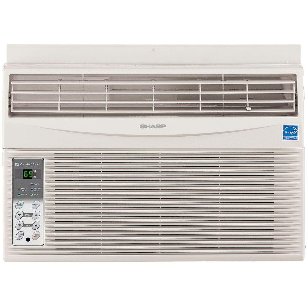 Sharp 6,000 BTU 115-Volt Window-Mounted Air Conditioner with Rest Easy Remote Control
