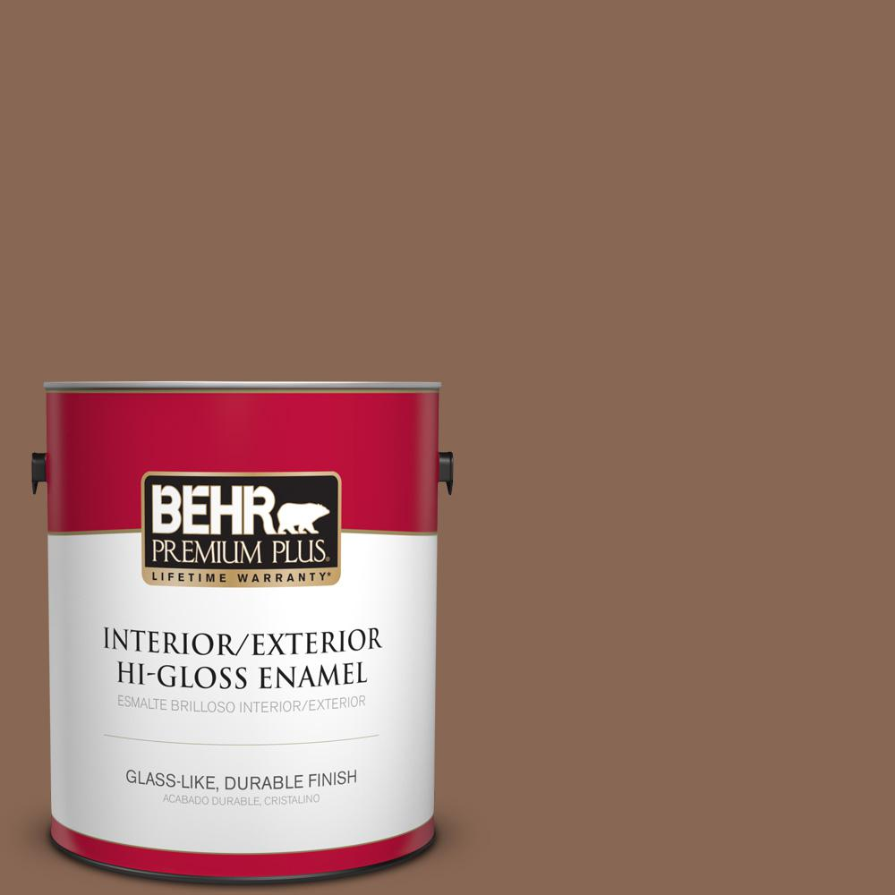 1 gal. #PPU3-17 Clay Pot Hi-Gloss Enamel Interior/Exterior Paint