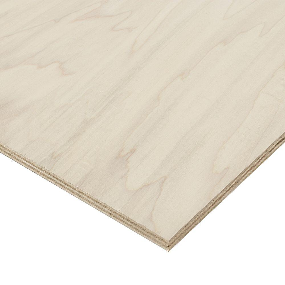 Columbia Forest Products 3/4 in. x 2 ft. x 8 ft. PureBond Poplar ...