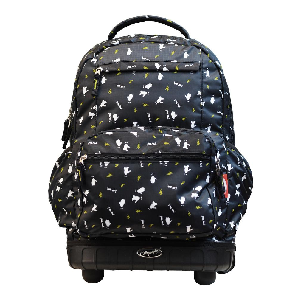 Melody 19 in. Black Rolling Backpack-RP-6001-BK - The Home Depot 936f412e3a8