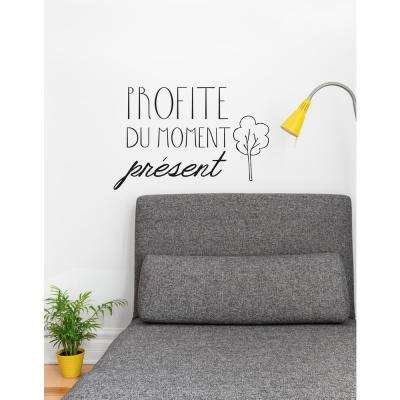 (21 in x 14 in) Profite du present Wall Decal