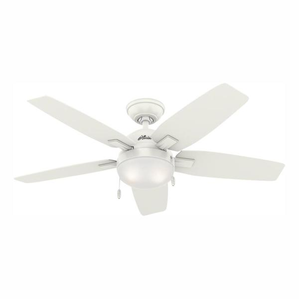 Antero 46 in. LED Indoor Fresh White Ceiling Fan with Light