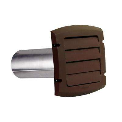 6 in ProVent Louvered Exhaust Hood - Brown