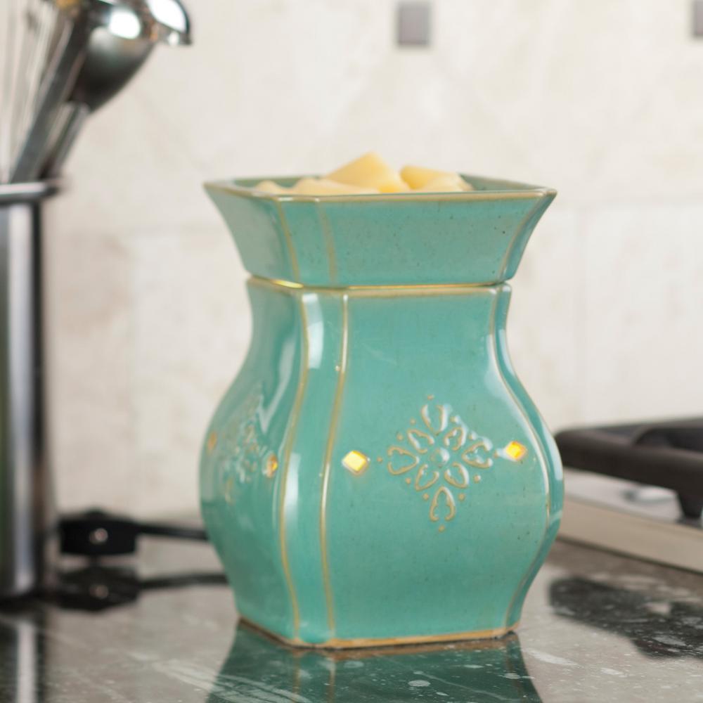 8.8 in. Vintage Turquoise Illumination Fragrance Warmer