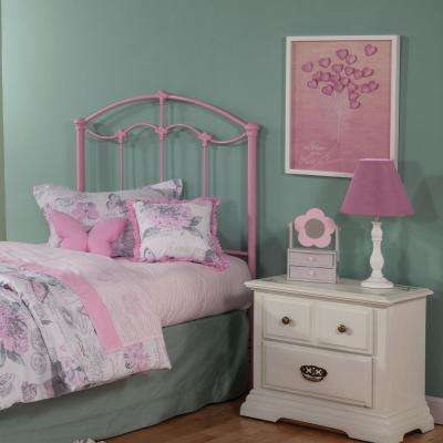 Amberley Pastel Pink Twin Headboard With Elegant Curves And Fl Medallions Accents