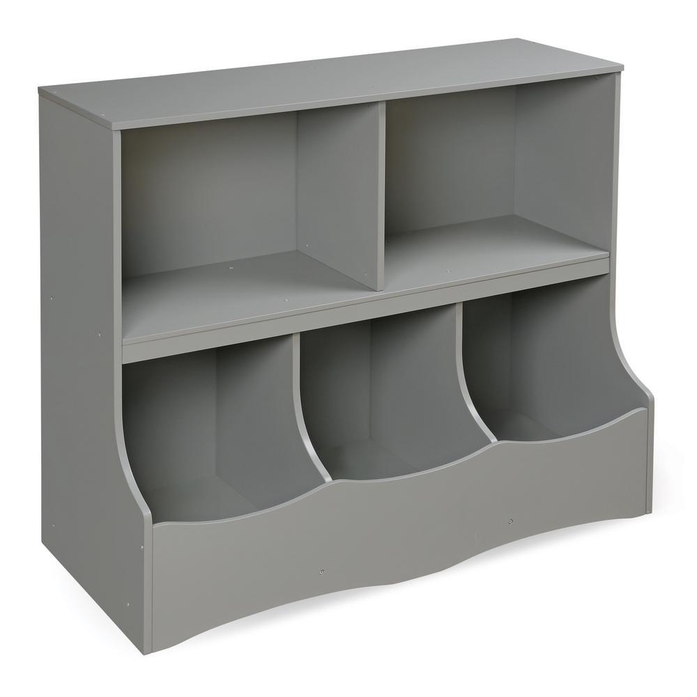 Multi Bin 37 In X 32 In Gray 5 Cube Organizer