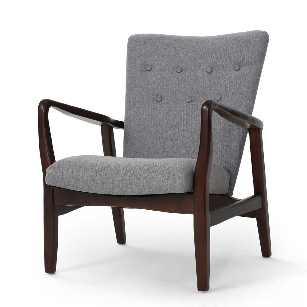 Becker Grey Fabric Arm Chair