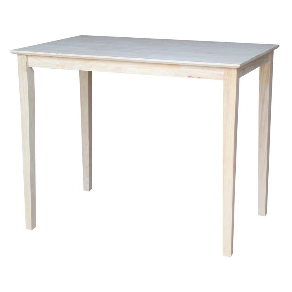 International concepts unfinished skirted pubbar table k 3048 42s international concepts unfinished skirted pubbar table watchthetrailerfo