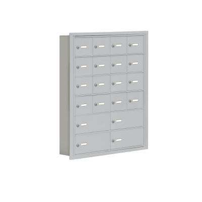 19000 Series 30.5 in. W x 36.5 in. H x 5.75 in. D 16 A/4 B Doors R-Mount Keyed Locks Cell Phone Locker in Aluminum